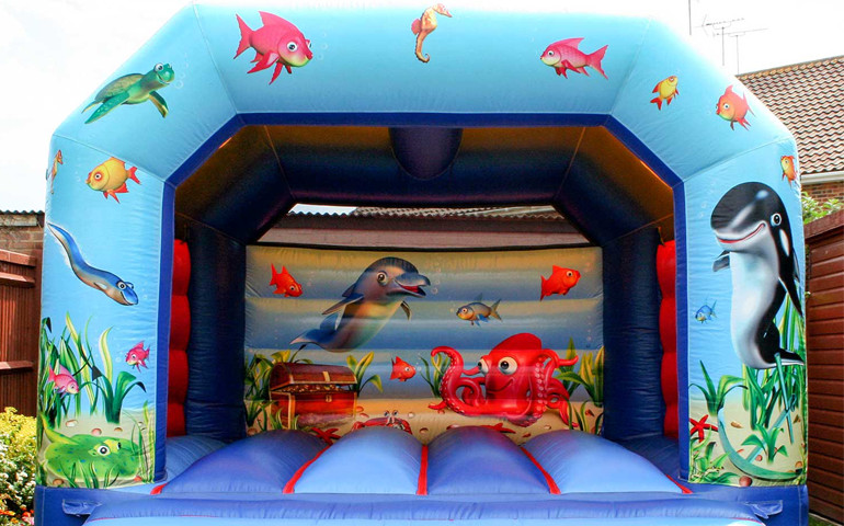Ocean Theme Bouncy Castle
