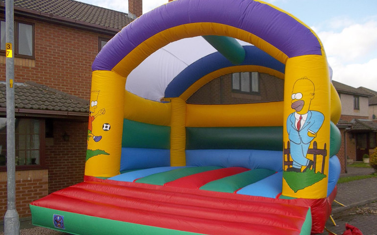 The Simpsons Theme Bouncy Castle