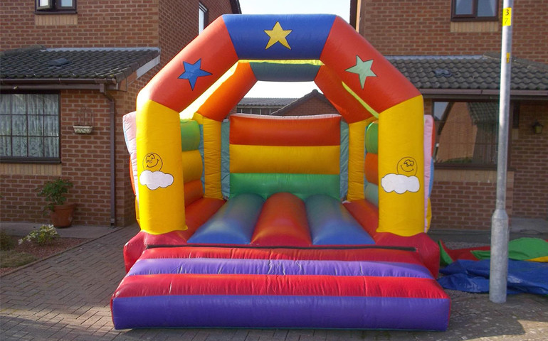 Sun & Cloud Theme Bouncy Castle