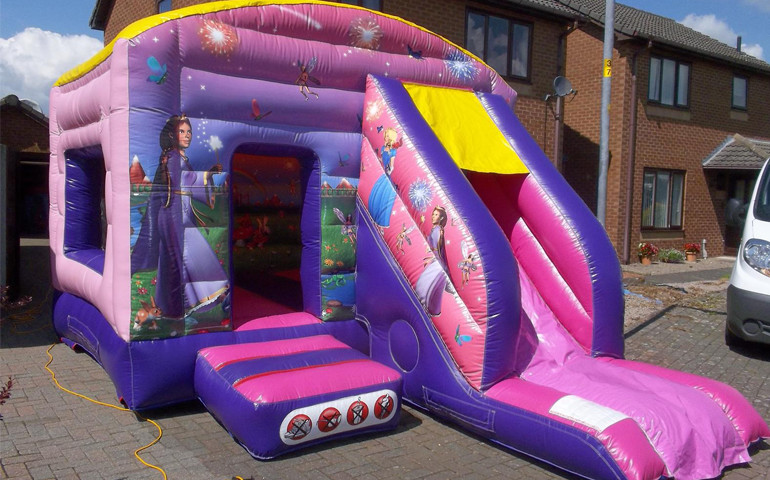 princess bouncy castle super slide